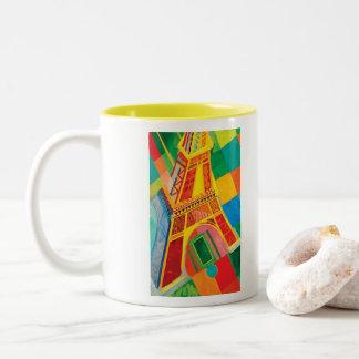 Taza Bicolor Viaje Eiffel del La de Roberto Delaunay