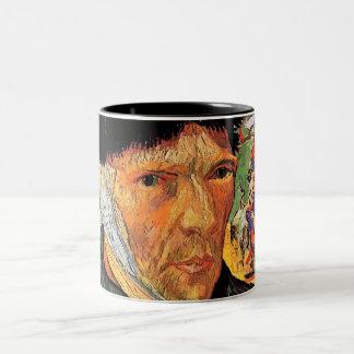 Taza Bicolor Vincent van Gogh - autorretrato con el oído