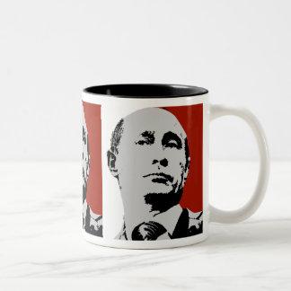 Taza Bicolor Vladimir Putin rojo