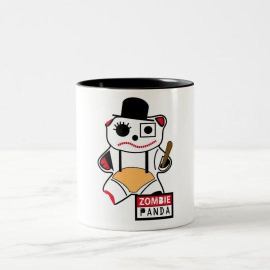 Taza Bicolor Zombie Panda La Naranja Mecánica