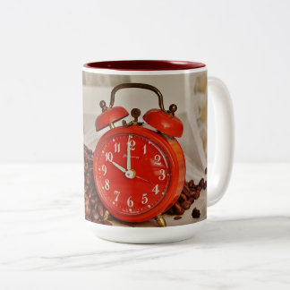 Taza Bicolor ¡Zurdo! ¡Taza de café roja bonita y divertida del
