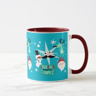 Taza Bigote de las imágenes del navidad