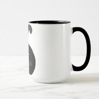 Taza Black fatty cat mug