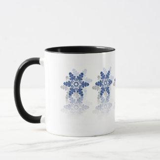 Taza blanca azul simple