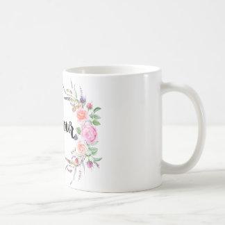 Taza   blanca clásica floral de Bonjour del ♛