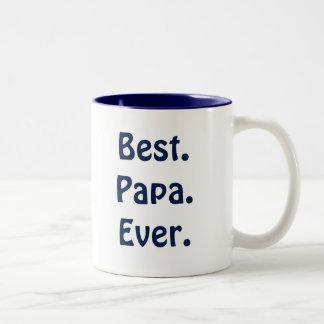 """Taza blanca y azul de la """"mejor papá nunca"""" de"""