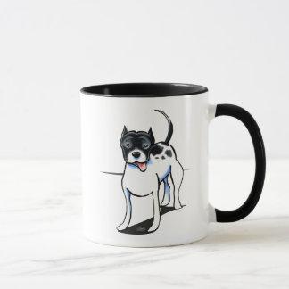 Taza Blanco negro del pitbull APBT