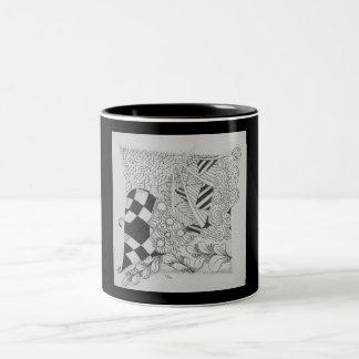 Taza blanco y negro del diseño original del zen