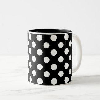 Taza blanco y negro del Dos-Tono del modelo de