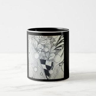 Taza blanco y negro del zen