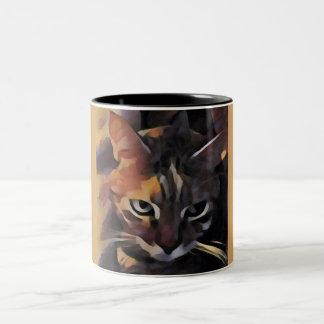 Taza bonita del gato del gatito