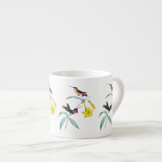 Taza botánica del café express del Wildflower de