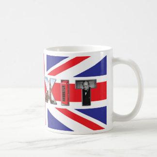 ¡Taza británica de Brexit de los iconos! Taza De Café