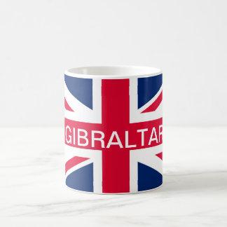 Taza británica de Gibraltar de la bandera