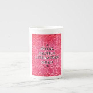 Taza británica total de la porcelana de hueso del