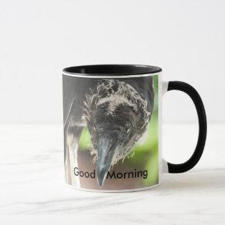 Taza buena mañana del buitre