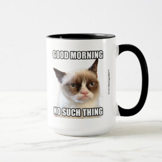 Taza Buena mañana gruñona de Cat™ - ninguna tal cosa
