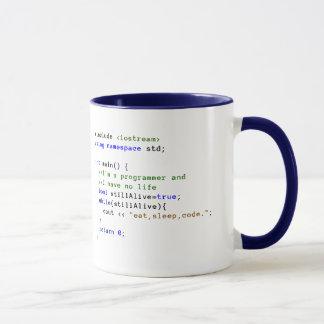 Taza C++ El bucle infinito come, duerme, y cifra la