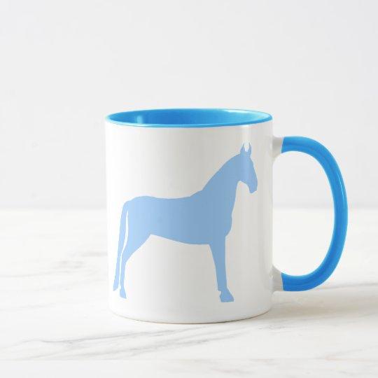 Taza Caballo que camina de Tennessee (azul claro)