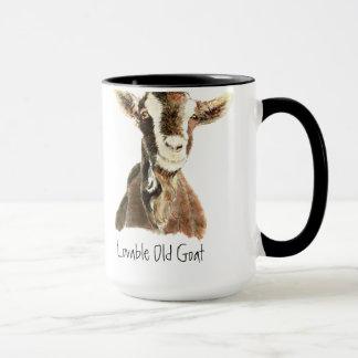 Taza Cabra vieja adorable del humor, animal, mascota de