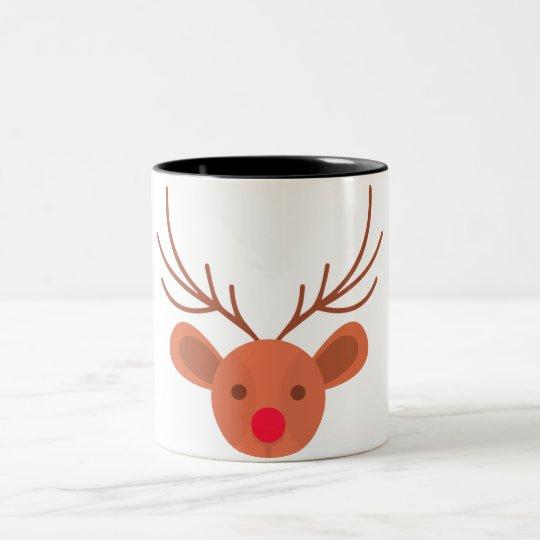Taza café o té reno navideño