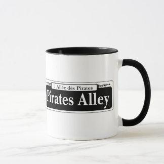 Taza Callejón de los piratas, placa de calle de New