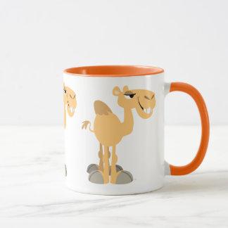 Taza Camello sonriente lindo del dibujo animado