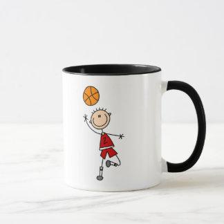 Taza Camisetas y regalos rojos del baloncesto de los