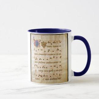 """Taza canto manuscript.jpg, canto gregoriano: , El """"Cu…"""