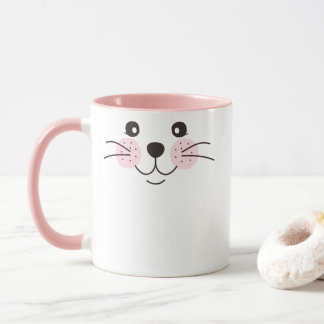 Taza Cara linda, sonriente del gato