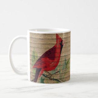 Taza cardinal pintada de la taza de café del