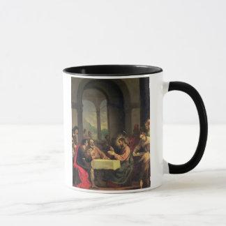 Taza Cena en Emmaus, c.1600-05 (aceite en el panel)