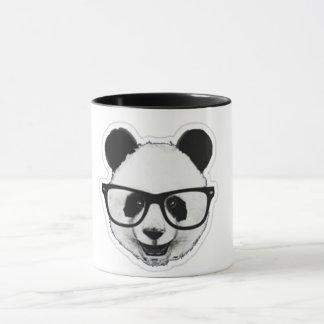 Taza Ceramic Coffee Mug, 11oz, White Panda Hipster