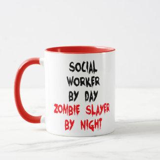 Taza Chiste del zombi del asistente social