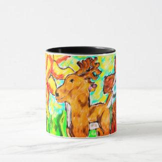 Taza Ciervos por arte cruzado