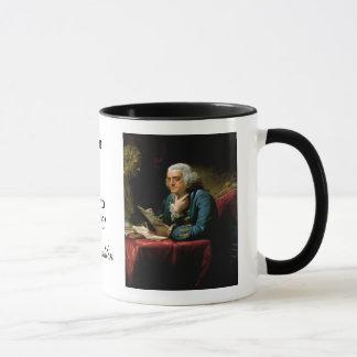 """Taza Cita de Ben Franklin """"la constitución de los"""