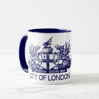 Taza Ciudad de Londres, vintage, escudo de armas,