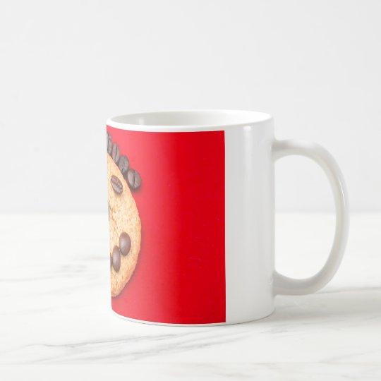 taza clásica Blanco-roja de 11 onzas con la cara