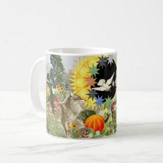 Taza clásica del café del eclipse solar