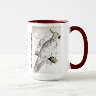 Taza Cockatoo con cresta del mayor azufre del pájaro de