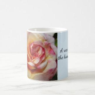 Taza color de rosa