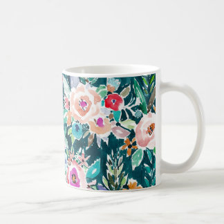 Taza colorida de la flor