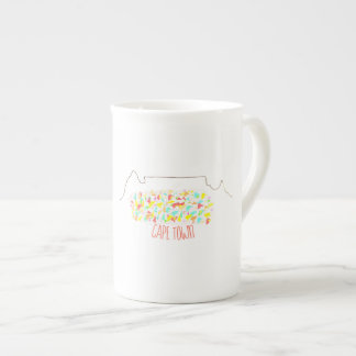 Taza colorida de la taza de Cape Town de la