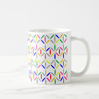 Taza colorida intrépida de la raya del diamante