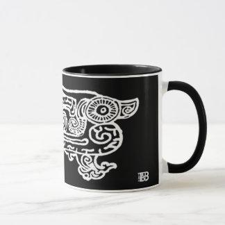 Taza combinada de la impresión inversa del dragón