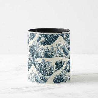 Taza combinada - la onda de Hokusai