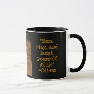 Taza Comer café con Oliverio