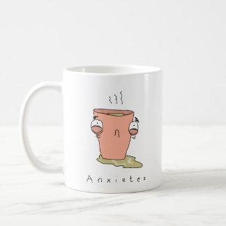 Taza cómica divertida del té de Anxietea el  