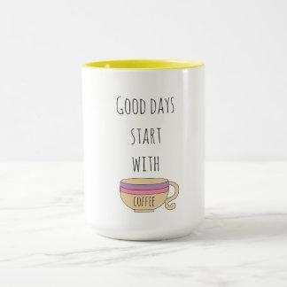 Taza Comienzo de los buenos días con café