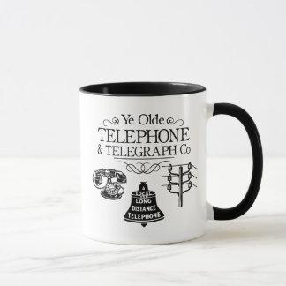 Taza Compañía telefónica del vintage